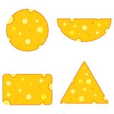 Cheese different shape Royalty Free Stock Photo