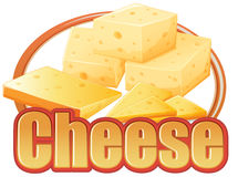Cheese in different sizes Royalty Free Stock Images