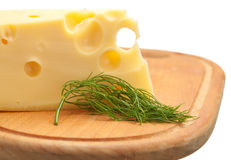 Cheese and dill Royalty Free Stock Image