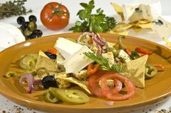 Cheese dish Mexican style Stock Photos