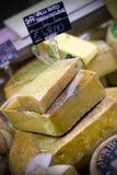 Cheese display Royalty Free Stock Image