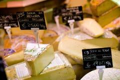 Cheese display Stock Photo