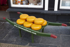 Cheese display in Delft Stock Photography