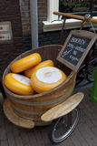 Cheese display in Haarlem Royalty Free Stock Image
