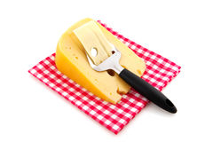 Cheese with Dutch slicer Royalty Free Stock Images