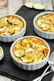 Cheese eggs zucchini casserole Stock Image