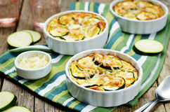 Cheese eggs zucchini casserole Royalty Free Stock Image
