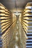 Cheese factory in Gruyères, Switzerland Stock Photo