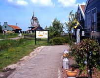 Cheese factory and windmill, Zaanse Schans. Royalty Free Stock Images