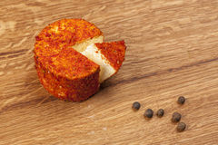 Cheese fantasy. Spices and cheese Stock Image