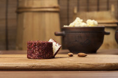 Cheese fantasy. Spices and cheese Royalty Free Stock Image