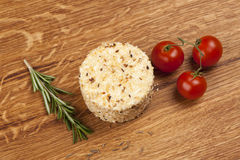 Cheese fantasy. Spices and tomatoes Royalty Free Stock Photos
