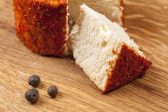 Cheese fantasy. With sweet pepper Royalty Free Stock Images