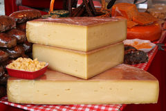 Cheese on the farmer's market Royalty Free Stock Photography