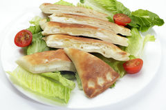 Cheese fataya with salad Royalty Free Stock Photography