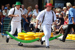 Cheese festival in city Alkmaar Royalty Free Stock Images