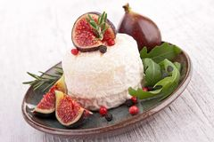 Cheese and fig Royalty Free Stock Photography