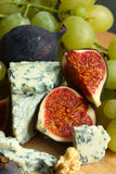 Cheese and fig Royalty Free Stock Photos