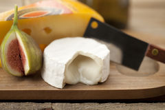 Cheese and fig fruit Royalty Free Stock Photo