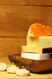 Cheese with figs Royalty Free Stock Image