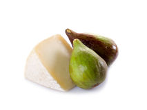 Cheese and figs Royalty Free Stock Photography