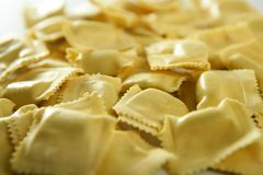 Cheese filled Italian pasta texture Stock Photos