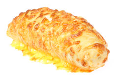 Cheese filled roll. Royalty Free Stock Images