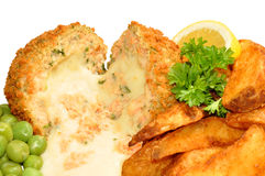 Cheese Filled Salmon Fish Cakes Royalty Free Stock Image