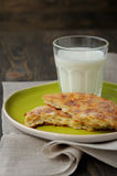Cheese flat bread Stock Photos