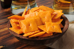 Cheese flavored crackers Royalty Free Stock Photos