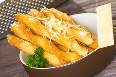 Cheese flavored twisted sticks Royalty Free Stock Photography