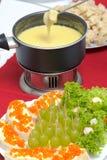 Cheese fondue royalty free stock photos