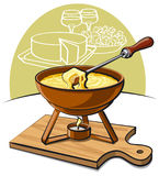 Cheese fondue Royalty Free Stock Image