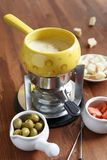 Cheese fondue Stock Images
