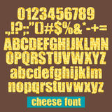 Cheese font Stock Images