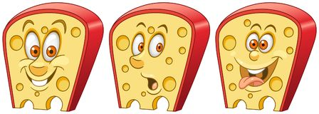 Cheese. Food Emoji Emoticon collection stock photography
