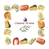 Cheese frame. Royalty Free Stock Photo