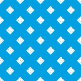 Cheese fresh block pattern seamless blue Royalty Free Stock Photos