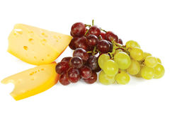 Cheese and fresh grapes Royalty Free Stock Photography