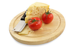 Cheese and fresh tomatoes Royalty Free Stock Image