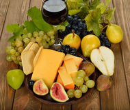 Cheese and fruit Royalty Free Stock Images