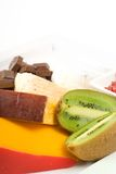 Cheese and fruit platter Royalty Free Stock Image