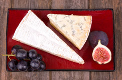 Cheese and fruit platter Royalty Free Stock Photo