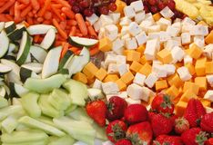 Cheese And Fruit Tray Royalty Free Stock Photos