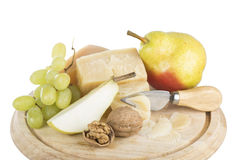 Cheese and fruit Royalty Free Stock Photo