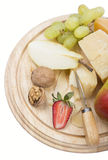 Cheese and fruit Stock Photography