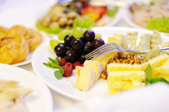 Cheese and Fruits Stock Photo