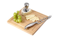 Cheese and grapes Royalty Free Stock Photos