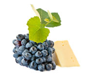 Cheese and grapes Royalty Free Stock Image