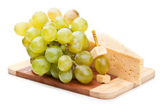 Cheese and grapes Royalty Free Stock Photography